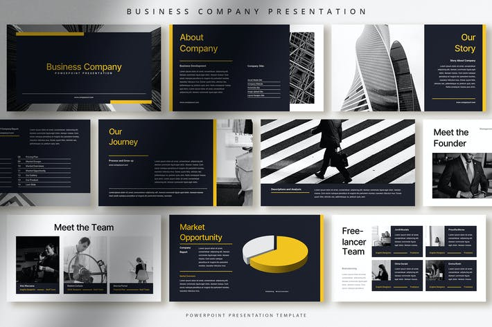 Bold Modern Business Company Presentation