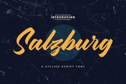 Salzburg Stylish Script Font
