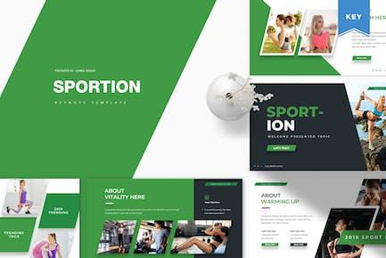Sportion | Шаблон Keynote