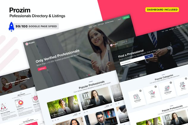 Prozim - Professionals Directory & Listings Templa