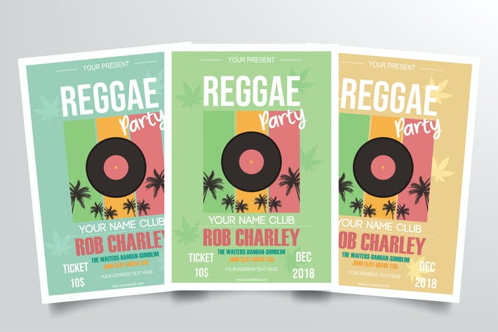 Thumbnail for Reggae Music Party Flyer Template