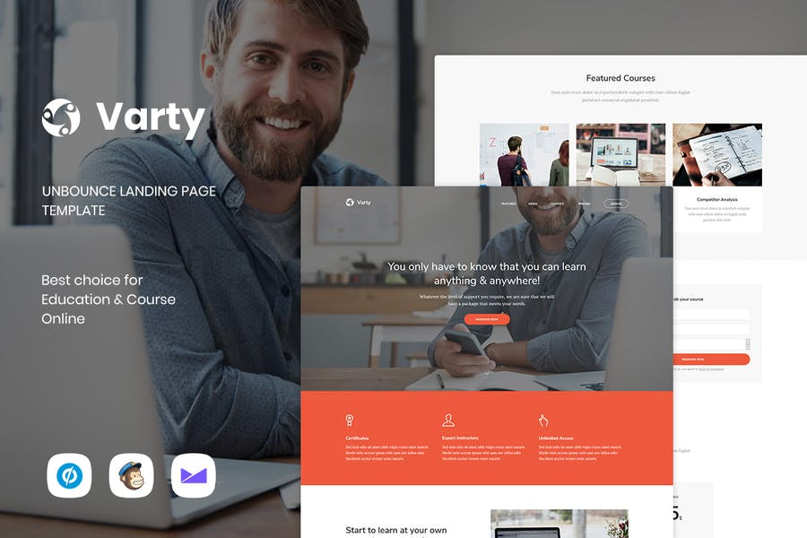 Varty - Education & Course Unbounce Landing Page