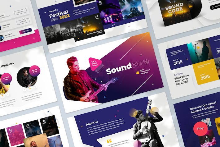 Thumbnail for Music & Band Presentation PowerPoint Template