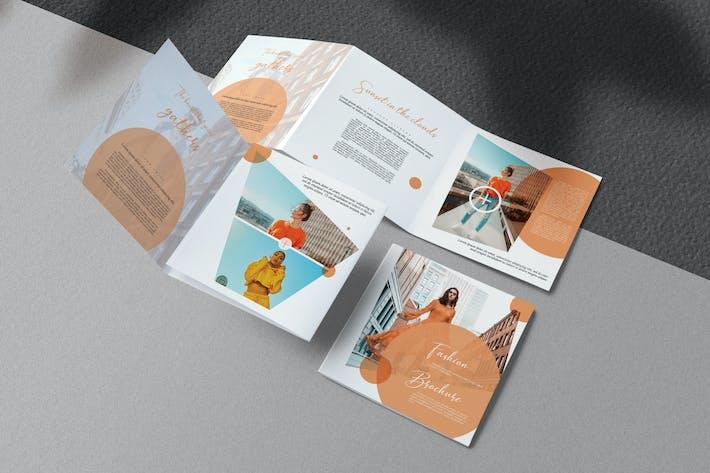Thumbnail for Apricot Fashion Square Trifold Brochure
