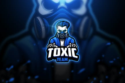 Toxic skull 2 - Mascot & Esport Logo