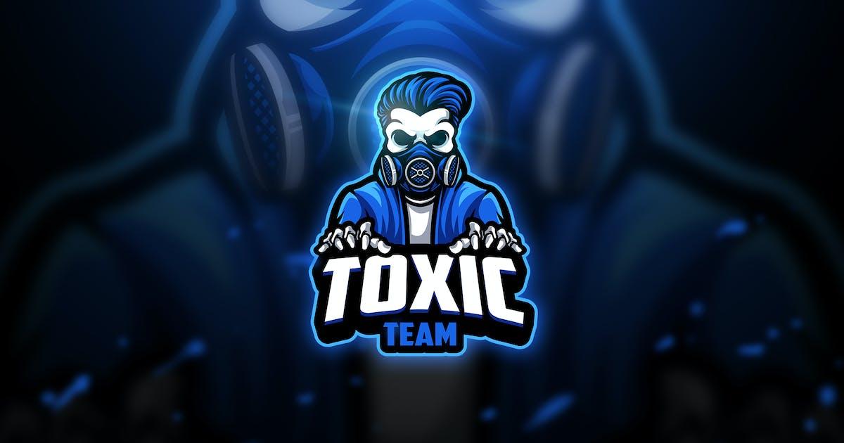 Download Toxic skull 2 - Mascot & Esport Logo by aqrstudio