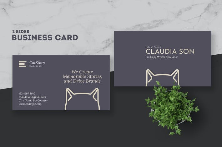 Thumbnail for Copy Writer Business Card Template