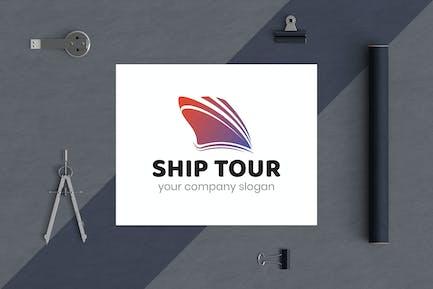 Ship Tour Business Logo Template