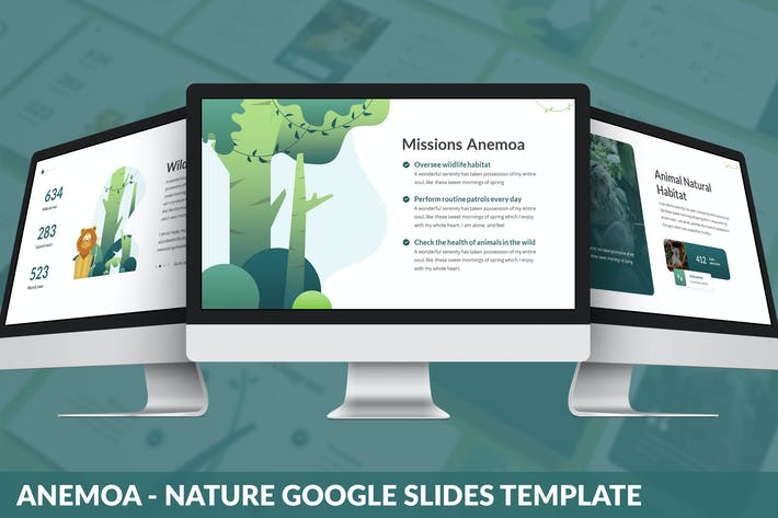 Cover Image For Anemoa - Nature Google Slides Template