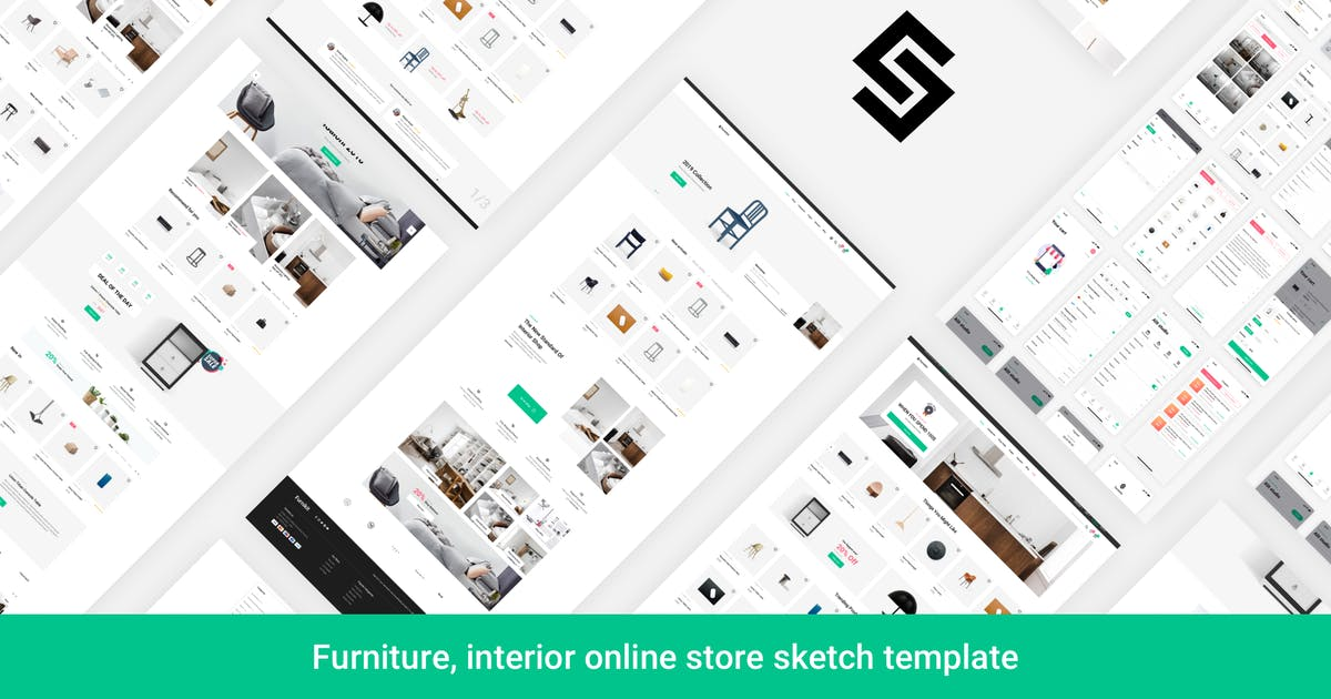Download Furnikit-Online Store Sketch Template by AlitStudio