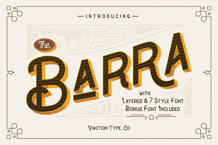 Barra Vintage Font