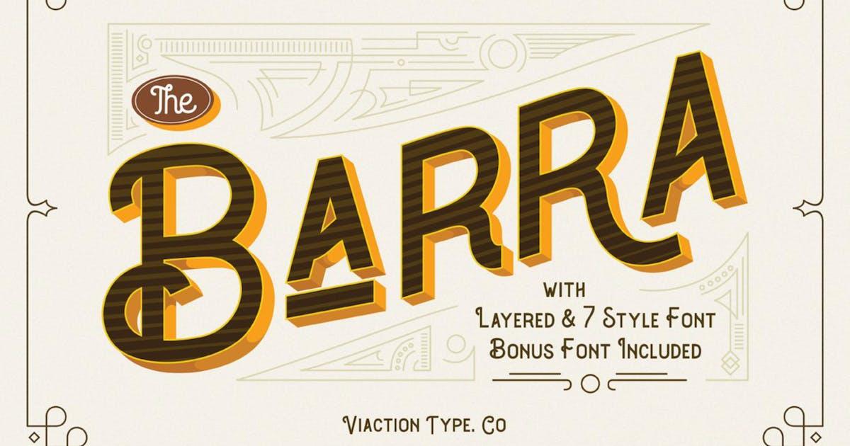 Download Barra Vintage Font by ViactionType