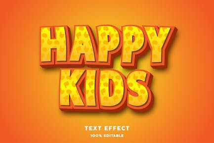 Happy kids text style effect
