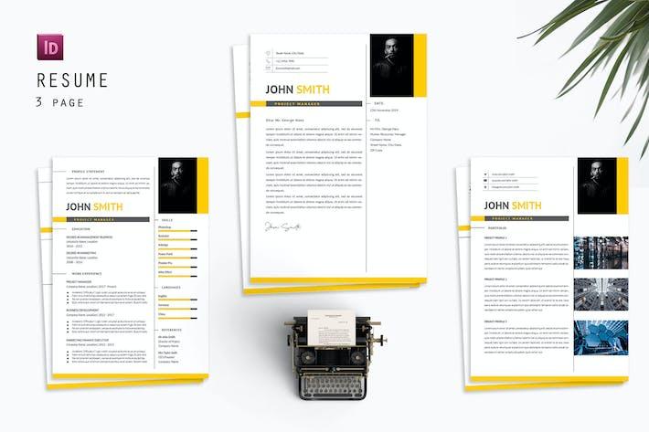 Thumbnail for John Smith Resume Designer