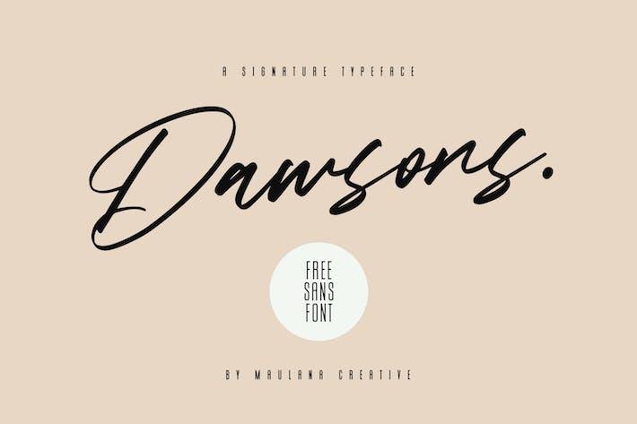 Thumbnail for Dawsons Script - Free Sans Font