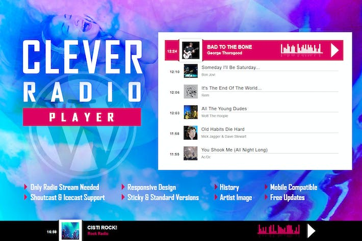 Thumbnail for CLEVER - HTML5 Radio Player With History WP Plugin