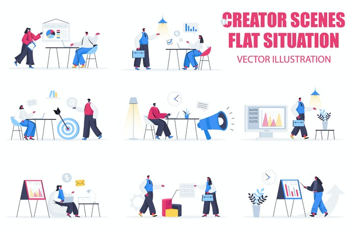 Thumbnail for Marketing Agency Flat People Scene Situation