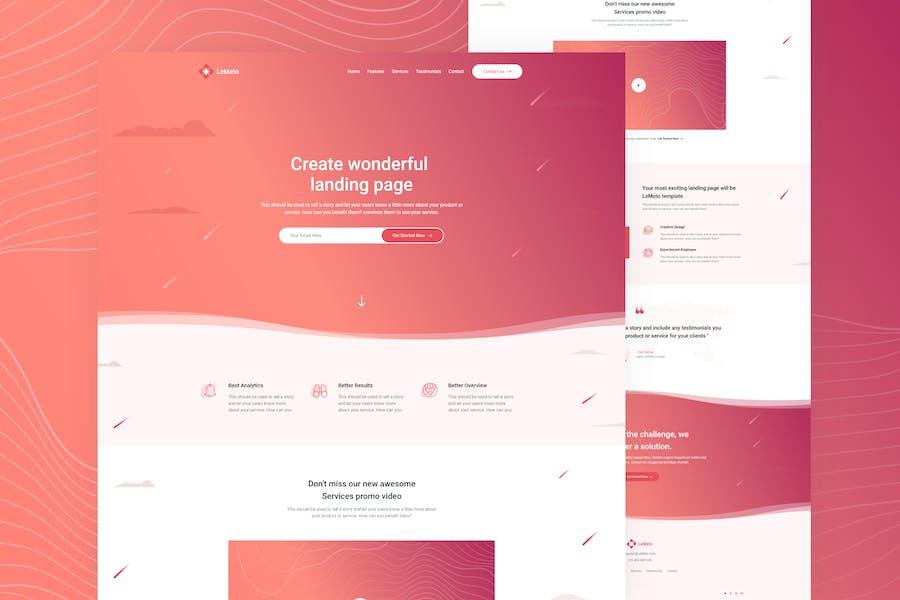 LeMeto - Isometric Business Unbounce Landing Page