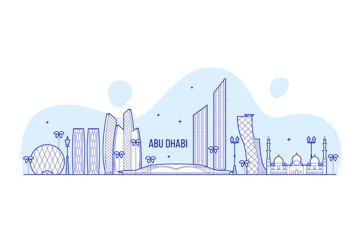 Thumbnail for Abu Dhabi skyline, United Arab Emirates