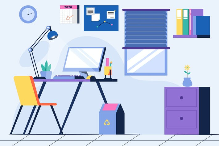 Office - Background Illustration