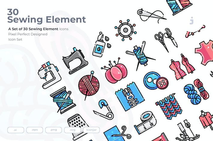 Thumbnail for 30 Sewing Icons