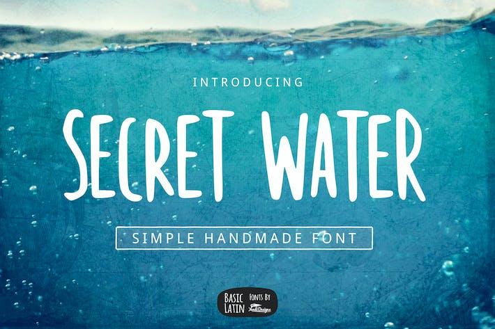 Secret Water Simple Font