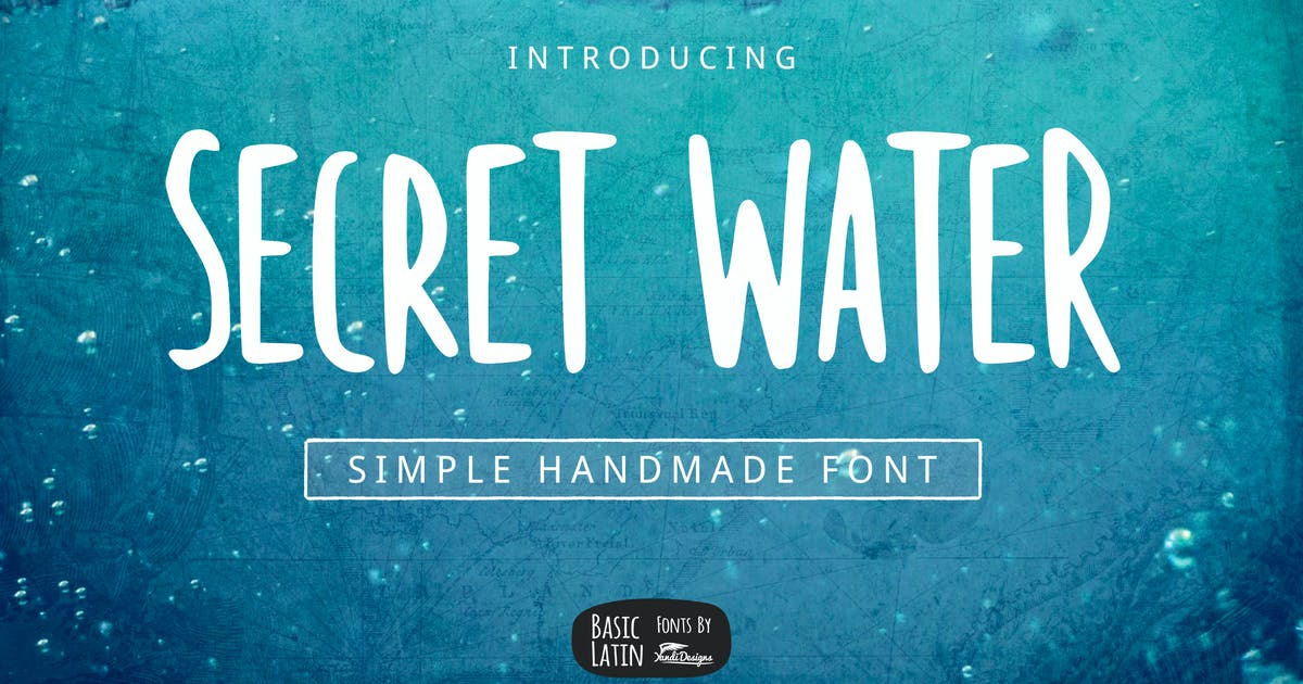 Download Secret Water Simple Font by yandidesigns