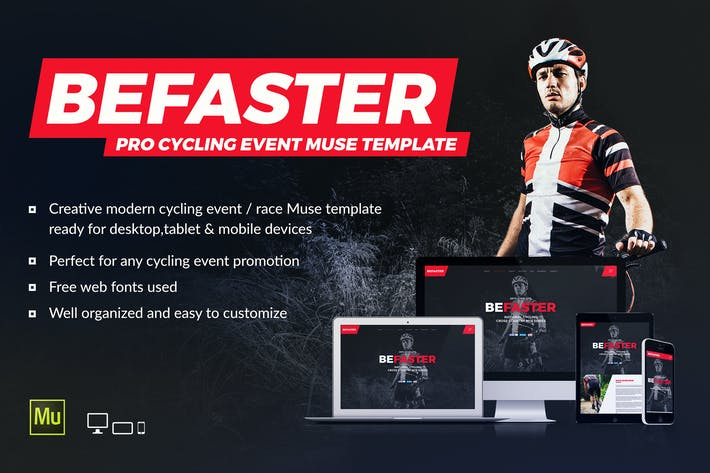 Thumbnail for BeFaster - Cycling Mountain Bike Event Website