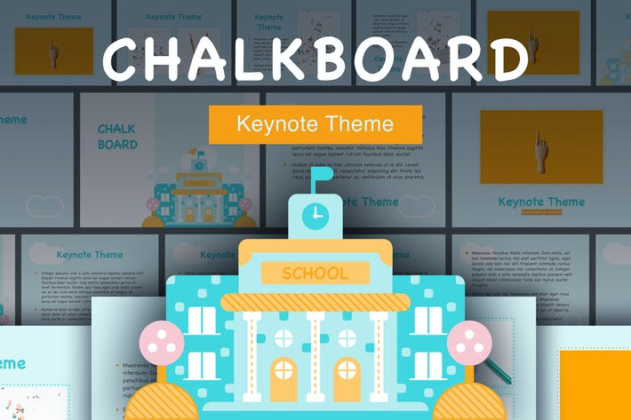 Thumbnail for Chalkboard Keynote Template