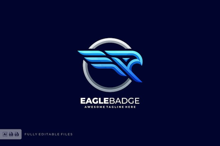 Thumbnail for Eagle Badge Bold Logo Template