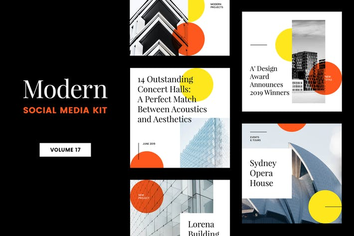 Thumbnail for Modern Social Media Kit (Vol. 17)