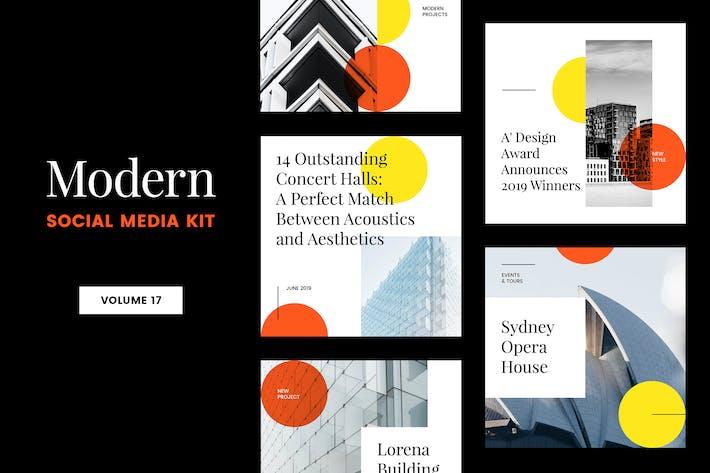 Cover Image For Modern Social Media Kit (Vol. 17)