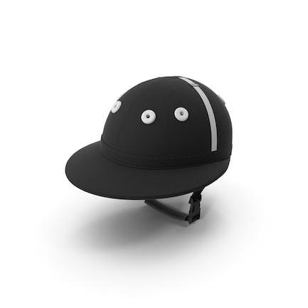 Polo Helmet Black Fabric