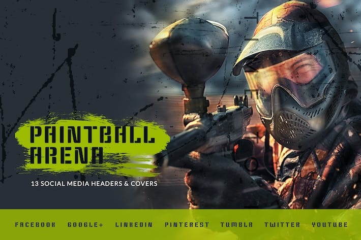 Thumbnail for Paintball Arena – Social Media Kit
