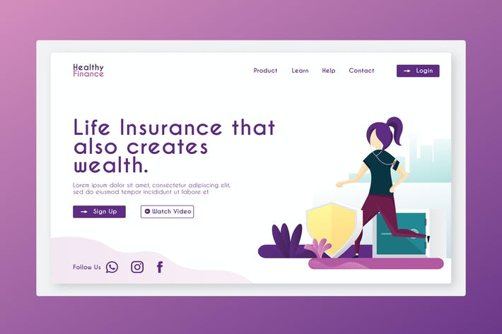 Thumbnail for Healthy - Banner & Landing Page