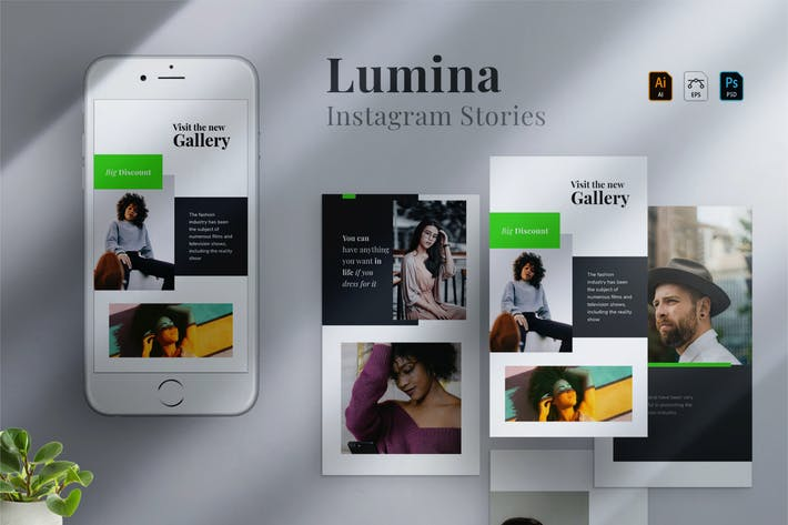 Thumbnail for Lumina - Instagram stories Template 08