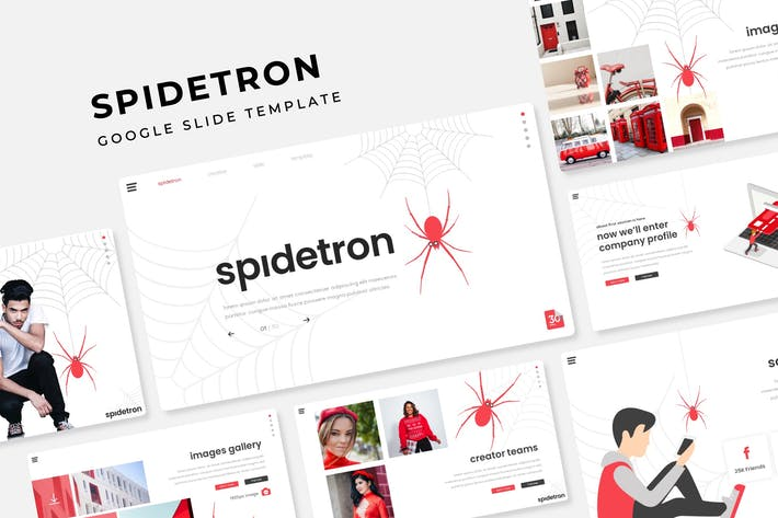 Cover Image For Spidetron - Google Slide Template