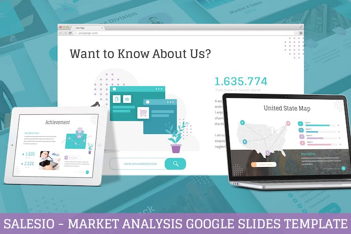 Cover Image For Salesio - Market Analysis Google Slides Template