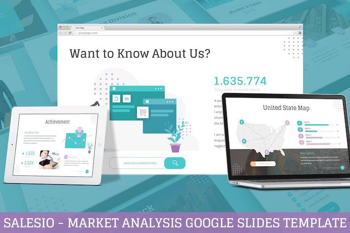 Thumbnail for Salesio - Market Analysis Google Slides Template