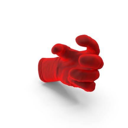 Glove Terciopelo Pequeño Esfera Objeto Hold Pose