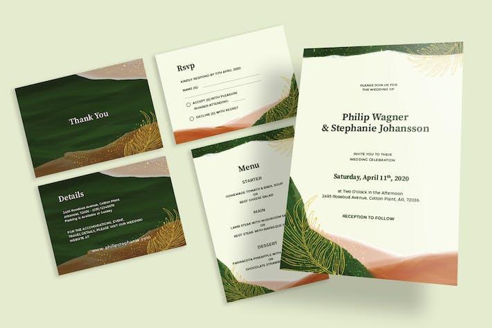 Thumbnail for Natural Botanical Wedding Invitation