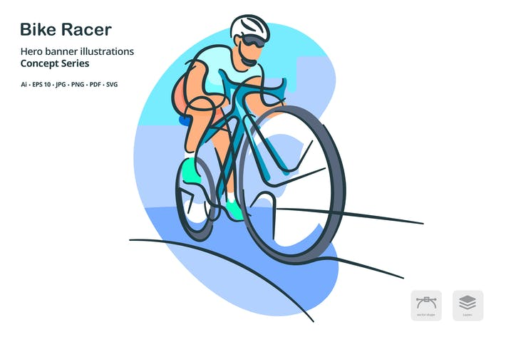 Thumbnail for Bike Racer Vector Illustration