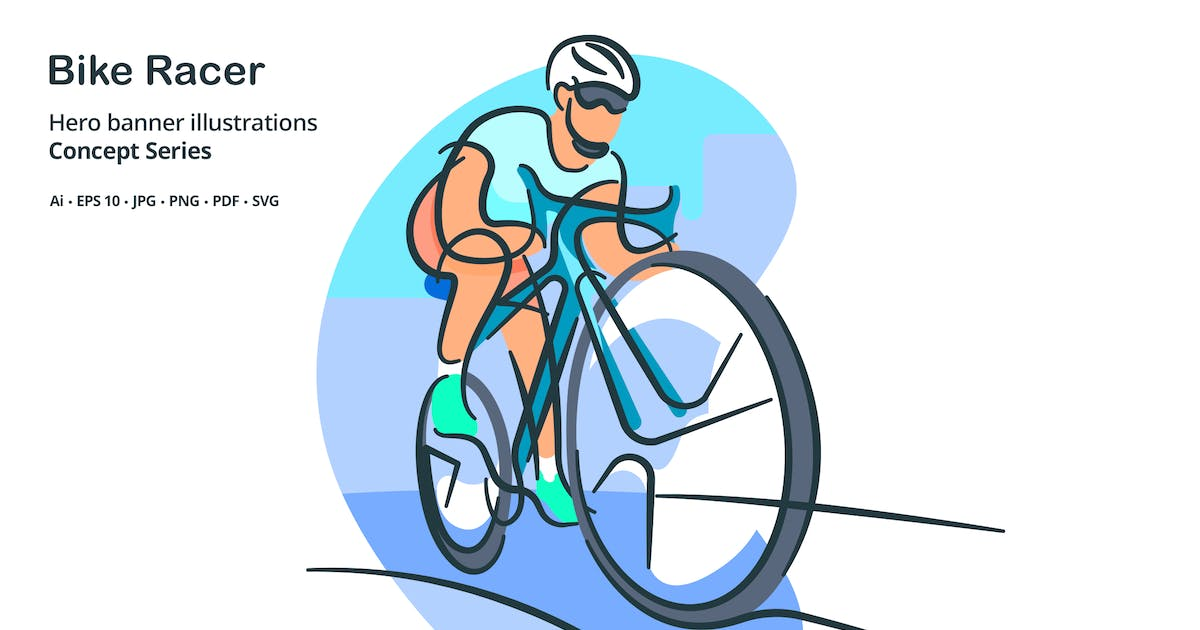 Download Bike Racer Vector Illustration by roundicons