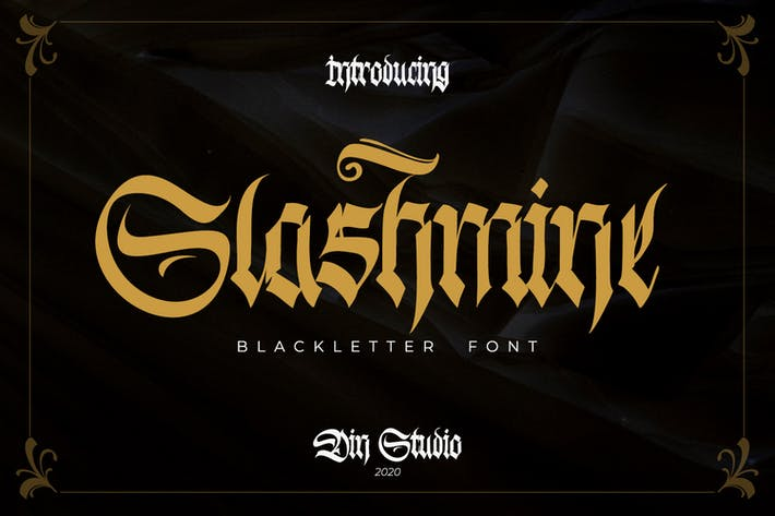 Thumbnail for Slashmine-Blackletter Font