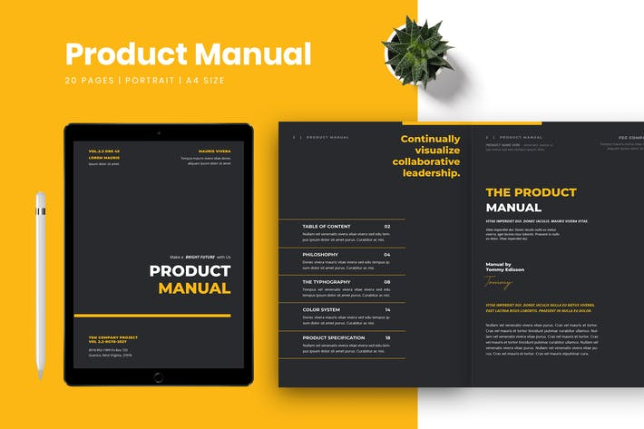 Thumbnail for Product Manual Template