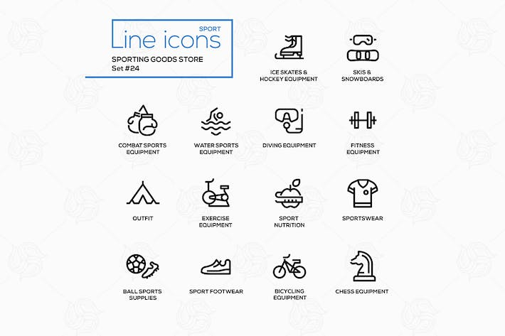 Thumbnail for Sporting goods store - modern vector line icons