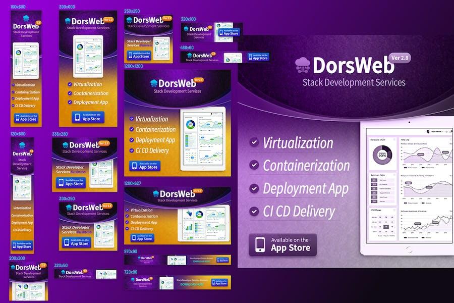 Technology Ad Banner Set - Development Services
