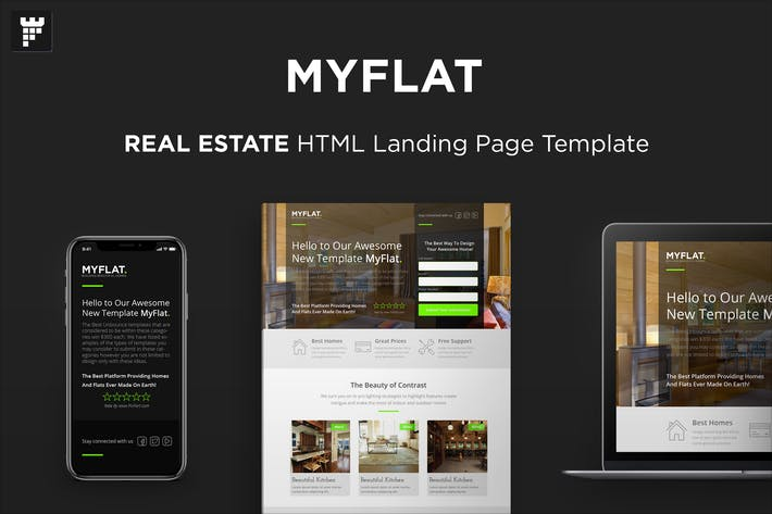 Thumbnail for MYFLAT - Real Estate HTML Landing Page