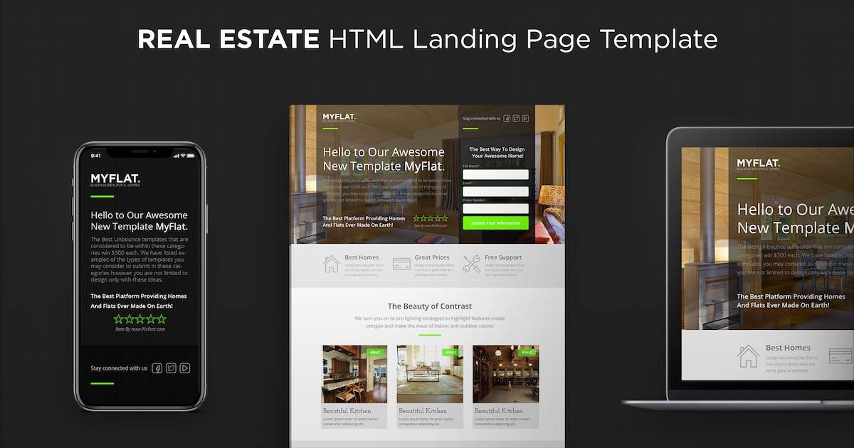 Download MYFLAT - Real Estate HTML Landing Page by PixFort