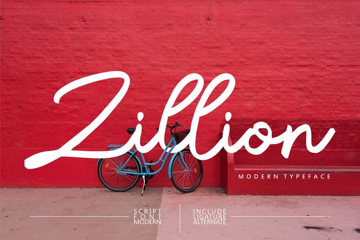 Thumbnail for Zillion| Modern Script Font